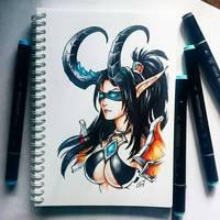 Irstaart - Demon hunter Valeera by Candra