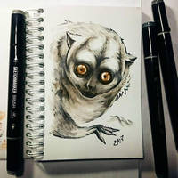Instaart - Night monkey by Candra