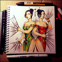 Instaart - Feng twins by Candra