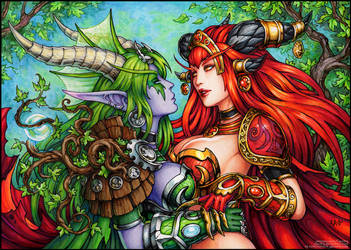 Ysera and Alexstrasza (SFW) by Candra