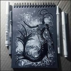 Sketchbook - Dark Mermaid by Candra
