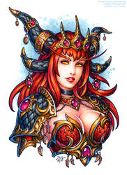 Alexstrasza the Life-Binder by Candra