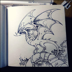 Sketchbook - Dragon by Candra