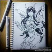 Sketchbook -  Satsuki Kiryuin (NSFW on Patreon) by Candra