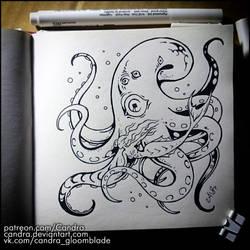Sketchbook - Mermaid and Kraken by Candra