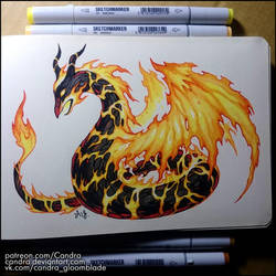 Sketchbook - The Serpent of Fire by Candra