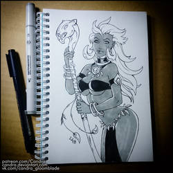 Sketchbook -  Queen La (NSFW on Patreon) by Candra