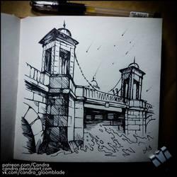 Sketchbook - Lomonosov Bridge by Candra