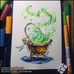 Sketchbook - Witch's Cauldron by Candra