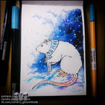 Sketchbook - Rat in winter by Candra