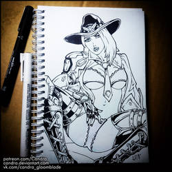 Sketchbook -  Ashe (NSFW on Patreon) by Candra