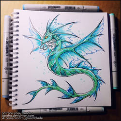 Sketchbook - The Serpent of Water by Candra