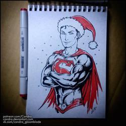 Sketchbook - Santa Superman by Candra