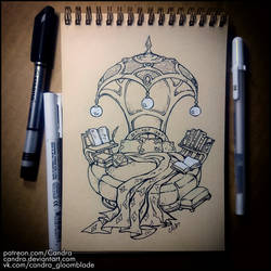 Sketchbook - Bed for Myst by Candra