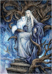 Thranduil and his arctic fox by Candra