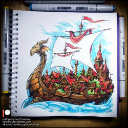 Sketchbook - Floating Town by Candra