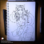 Sketchbook -  Felicia (NSFW on Patreon) by Candra