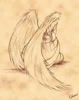 Sorrowful Angel by kayshasiemens