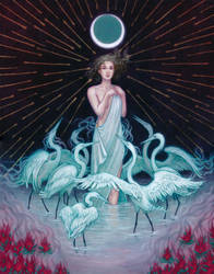 Artemis and her Nymphs by kayshasiemens