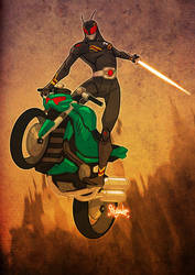 Kamen Rider Black - Re-design by silentgecko
