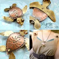 Myrtle The Sea Turtle Pendant by popnicute