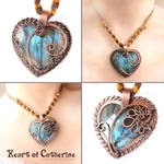 Heart of Catherine Labradorite Pendant by popnicute