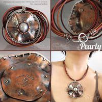 Pearly Copper Silver Necklace for Vanessa Lachey by popnicute