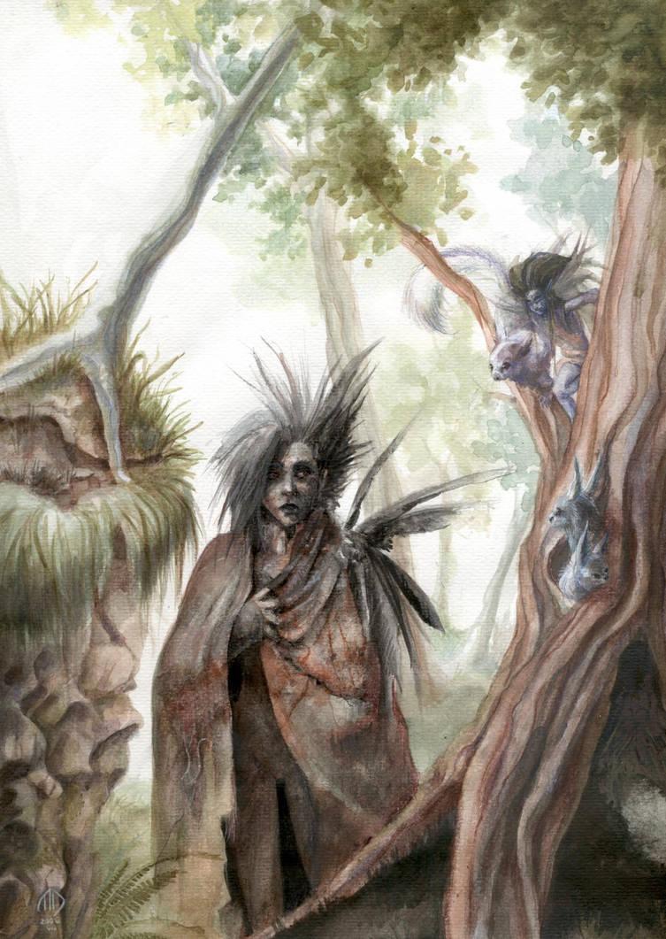 Crows Lady by MikhailD