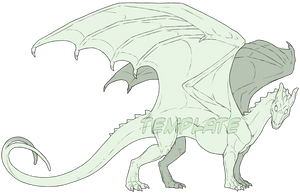 Commission - Pern Dragon Template by SeaSuds