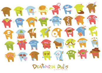 deathwish dolls - vectored by crushed-melon