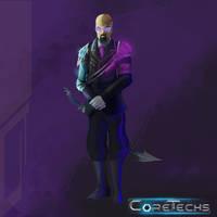 CoreTechs Concept Art: Technocrat Level 1 by HueTwo