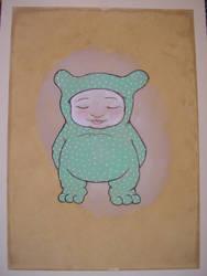 green cub aquarel by polpolina