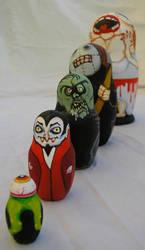 Horror Flick BaBooshka Set by polpolina