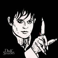 2nd sharpie pen drawing..Barnabas by ladyjart