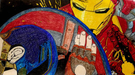 Captain America and Ironman  by ladyjart