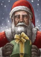 Santa Claus in snowflake by midoriharada
