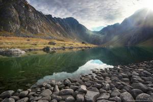 Lake at Eggum by Stridsberg
