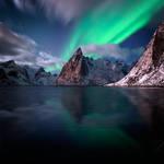Aurora Over Reine by Stridsberg