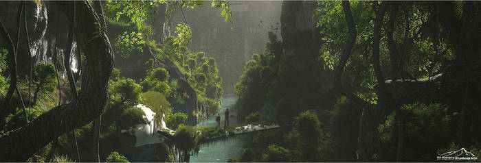 Deep In The Jungle by 3DLandscapeArtist