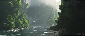 The Wild River by 3DLandscapeArtist