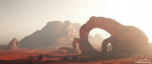 The Ancient Desert by 3DLandscapeArtist