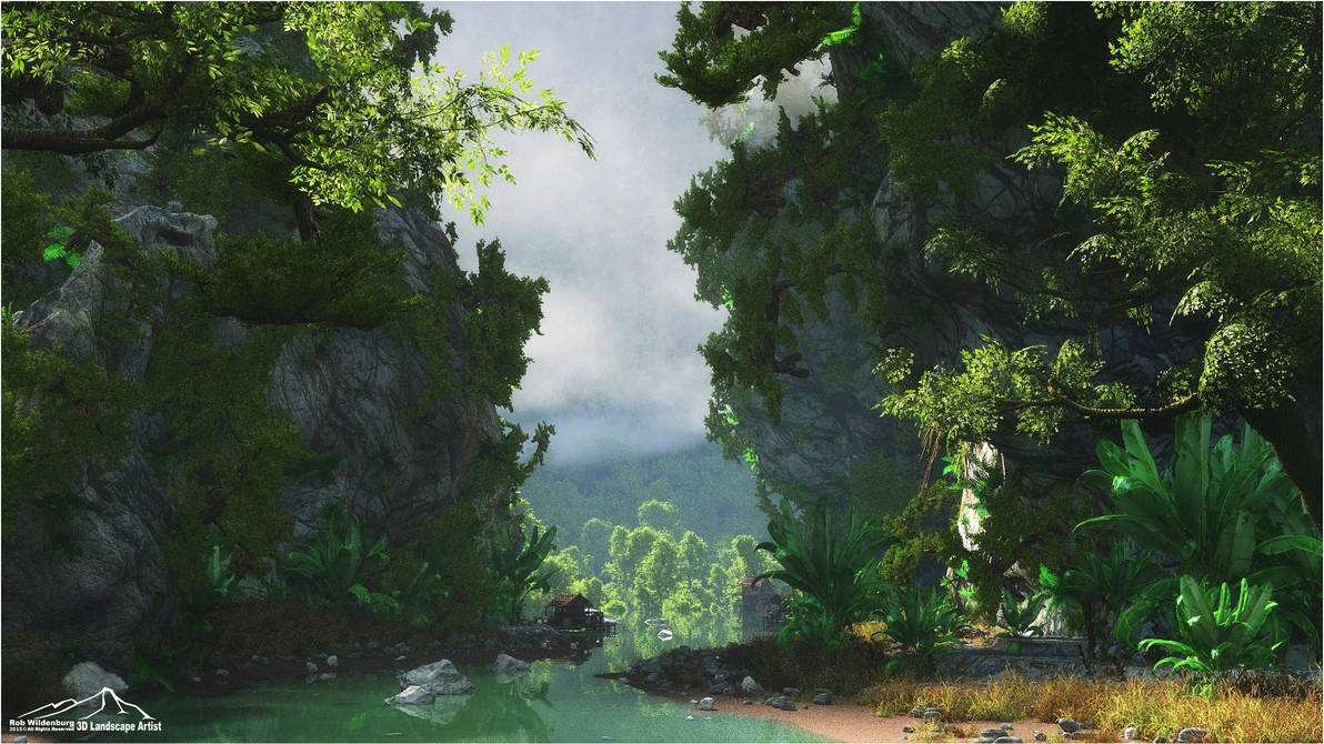 Scenic Stream by 3DLandscapeArtist