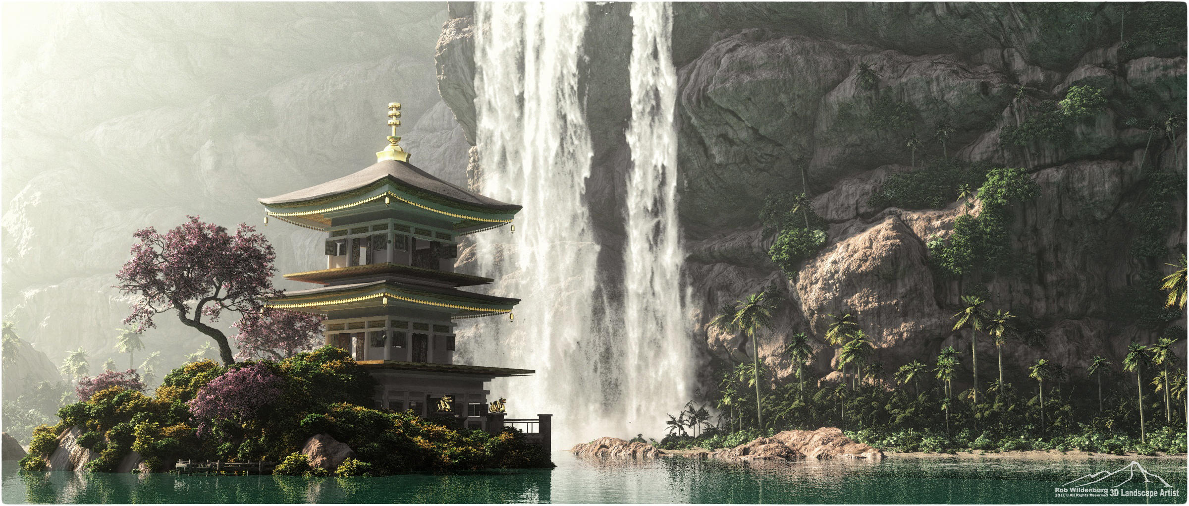 Cherry Blossom by 3DLandscapeArtist