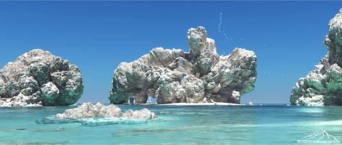 White Rocks by 3DLandscapeArtist