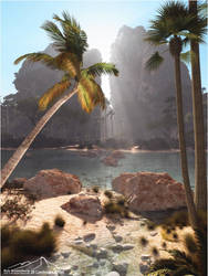 Tropical Lagoon by 3DLandscapeArtist