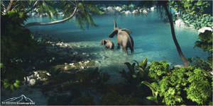 Tropical Scenery prt. 5 - Mother and Child by 3DLandscapeArtist