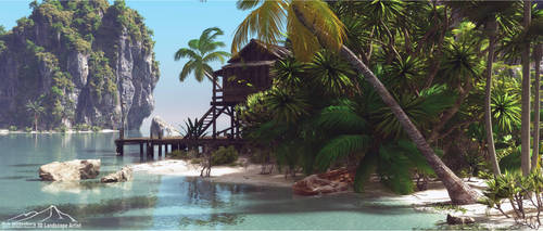 Tropical Seaside by 3DLandscapeArtist