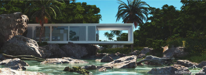 Modern House prt. one by 3DLandscapeArtist