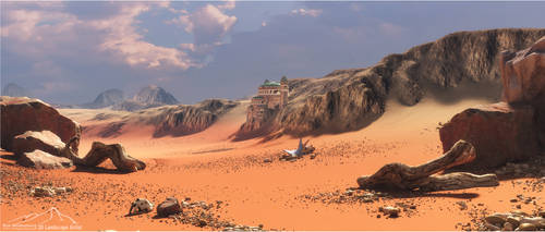 Red Desert by 3DLandscapeArtist