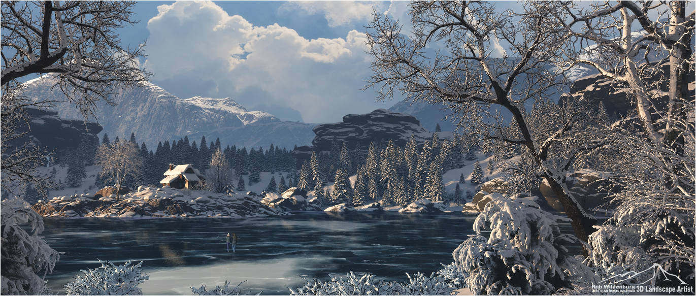 Frozen Lake by 3DLandscapeArtist